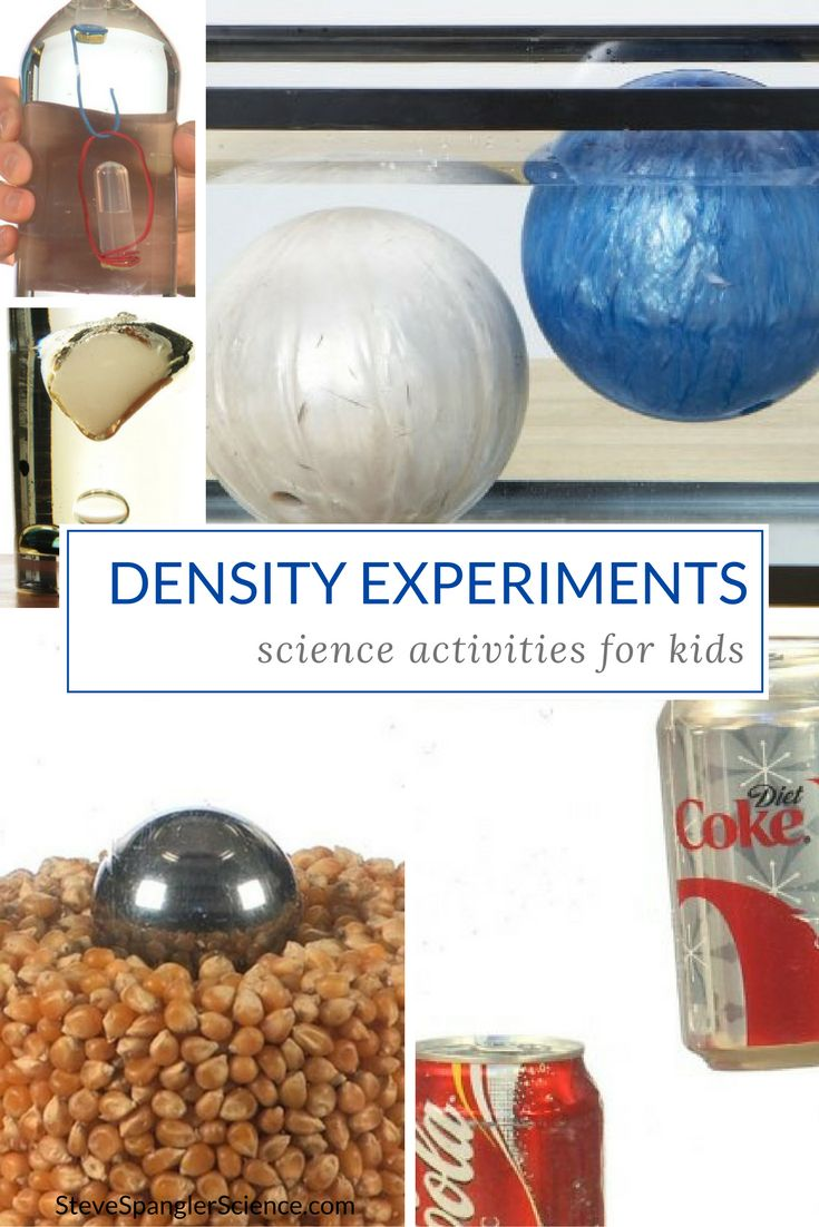 Discover Steve Spangler's best density science experiments and activities for kids!