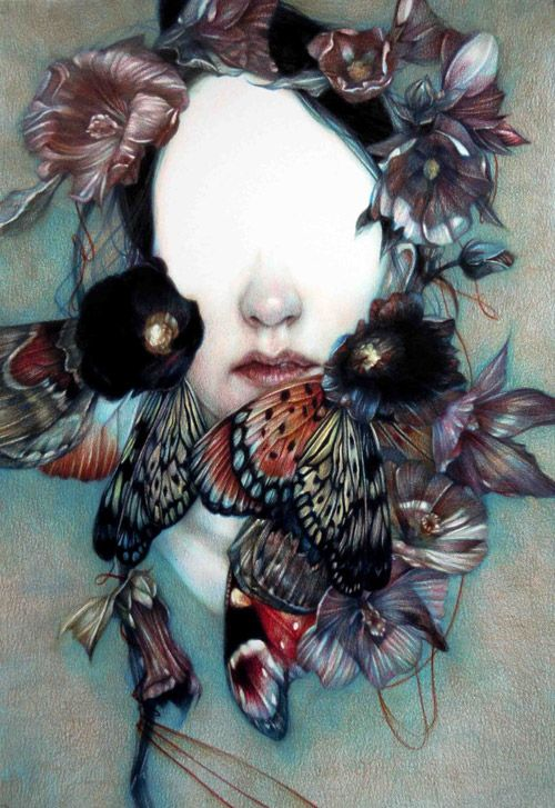 Coloured pencil crayon drawings by artist Marco Mazzoni