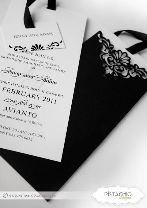 Wedding Invitation in Elegant Black
