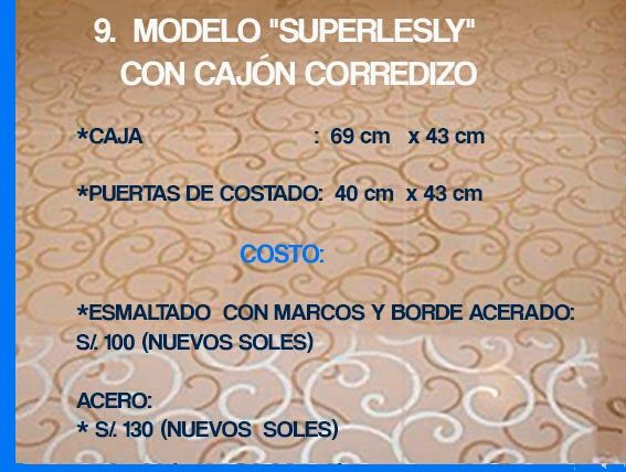 """GABINETE PARA BAÑO 9. MODELO """"SUPERLESLY"""", CON CAJÓN CORREDIZO"""