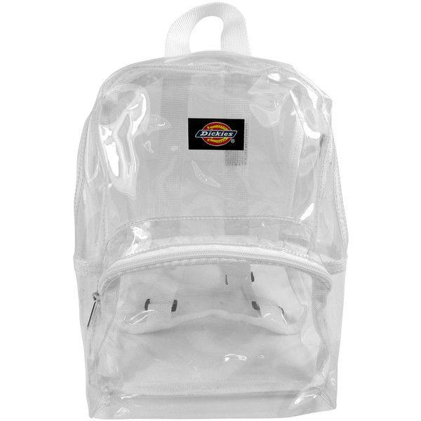 33b8e4461f1f Dickies White Transparent Mini Backpack ($9.99) ❤ liked on Polyvore ...