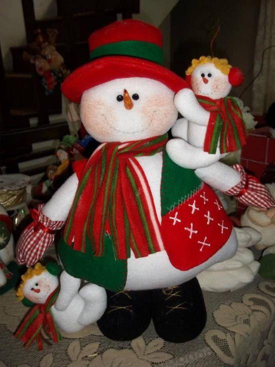 muñeco de nieve fieltro