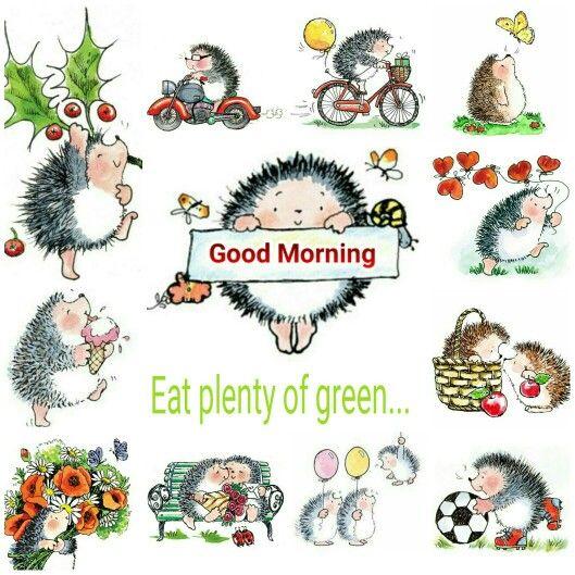 Good morning. Eat plenty of green