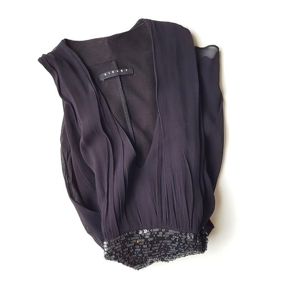 Sisley Sequin Top Excellent condition. Deep blue color with a hint of purple. ASOS Tops