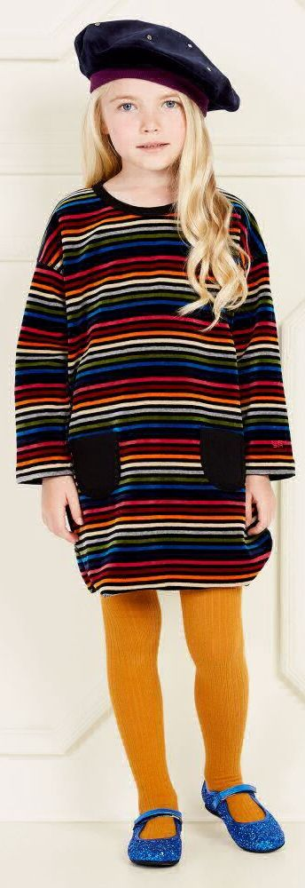 SALE !!! SONIA RYKIEL PARIS Girls Mini Me Designer Striped Velour Dress. One of my Favorite Dresses for Fall 2017! With her trademark stripes, Sonia Rykiel Paris has created a vintage-inspired tunic dress, in luxurious, soft feel velour. Now on Sale! #soniarykiel #kidsfashion #fashionkids #girlsdresses #childrensclothing #girlsclothes #girlsclothing #girlsfashion #minime #mommyandme #cute #girl #kids #fashion