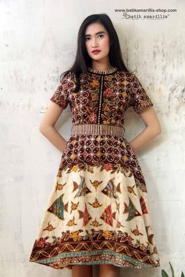 Batik Amarillis Made in Indonesia proudly presents: Batik Amarillis's Rive Gauche dress Available at Batik Amarillis webstore http://batikamarillis-shop.com