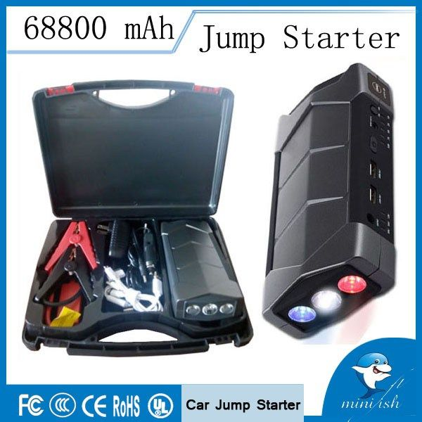 Discount! US $52.48  MiniFish 68800mAh Emergency Portable Mini Jump Starter Booster Battery Charger Jump Start For 12V Car Starting Device Power Bank  #MiniFish #Emergency #Portable #Mini #Jump #Starter #Booster #Battery #Charger #Start #Starting #Device #Power #Bank  #Online