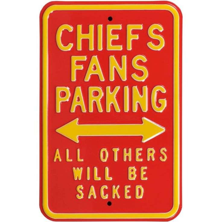 Authentic Street Signs Kansas City Parking Sign, Team
