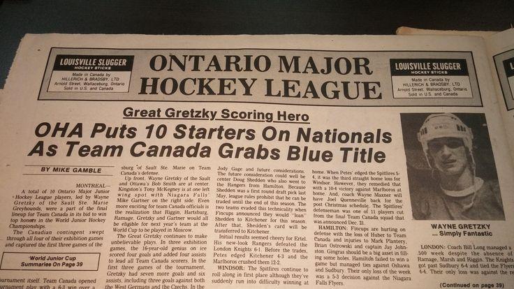 Wayne Gretzky at 16. The Hockey News article January 61978