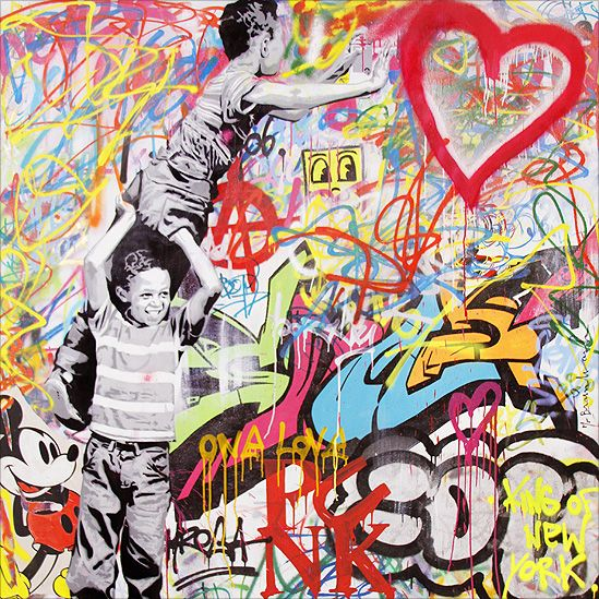 //Mr Brainwash #street art #graffiti                                                                                                                                                                                 More