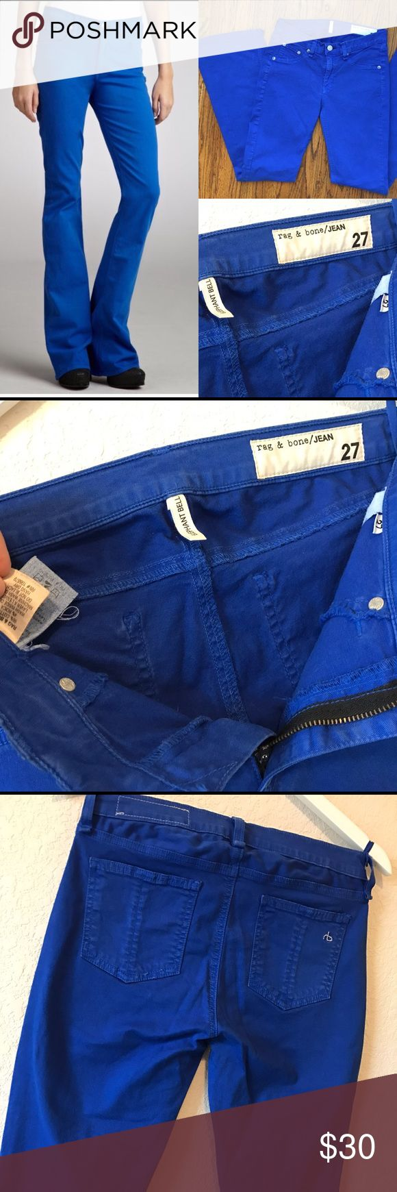 Rag & Bone Elephant Bell Cobalt Jeans In great used condition. rag & bone Jeans Flare & Wide Leg