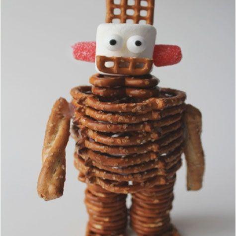 Celebrate #National Pretzel Day on April 26th by creating something fun with Pretzels!: Boys Robots, Fun Food, 10 Pretzels, Pretzel Recipes, Birthday Parties, Robots Birthday, Parties Ideas, Pretzels Recipes, Kids Food