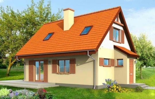 Projekt Smyk to dom o prostej bryle przekrytej dwuspadowym dachem. Dom jednorodzinny (lub domek letniskowy), dla rodziny trzy-czteroosobowej. Projekt charakteryzuje bezpretensjonalna architektura i funkcjonalne wnętrze. Na parterze budynku, oprócz salonu zaprojektowano duży holl ze schodami na poddasze, kuchnię i łazienkę. Na poddaszu mieszczą się dwie lub trzy sypialnie. Dom, ze względu na prostą konstrukcję jest niedrogi w budowie i późniejszej eksploatacji.
