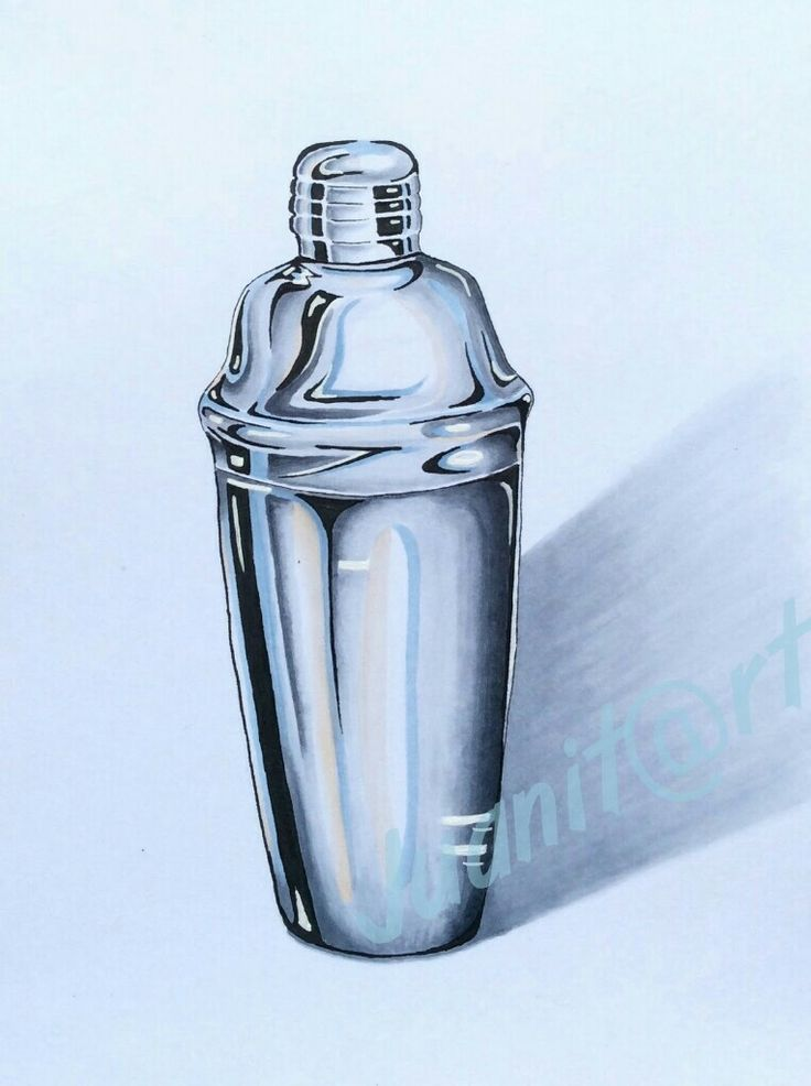 Cocktail shaker made with Copics