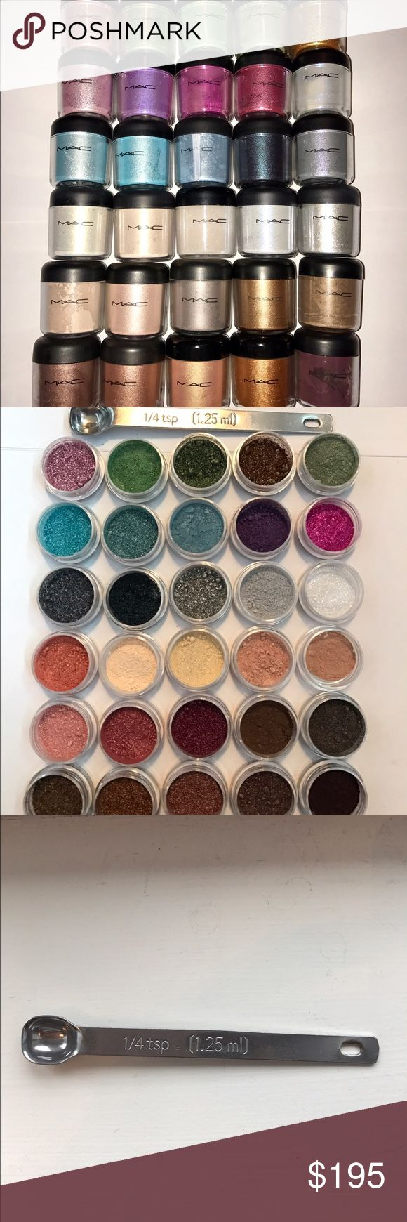 ❄️Rare MAC Sample Set! Authentic (1/4 teaspoon) ❄️CHRISTMAS DAY SUPER SALEONE DAY ONLYThis Mac Pigment Sample Set Includes (30) 1/4 teaspoon of the following Pigments: Gold Stroke, Tan Museum Bronze, Your Ladyship, Melon, Sweet Sienna, Tea Time, Bronze, Smoke Signal, Naked, Vanilla, Polished Ivory, Shimmertime, Lark About, Silver Fog, Sweetie Grey, Mutiny, Golden Blue, Aire-De-Blu, Reflect Blue glitter, Deep Blue Green, Ruby Red, Voilet, Reflects Very Pink glitter, Kitschmas, Apricot Pink…