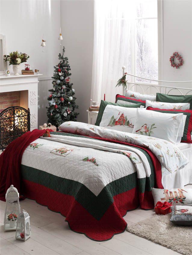 #yeniyıl #yılbaşı #flannel #nevresimtakımı #kırmızı #englishhome #bedroom #homedecor #bird #nevresim #ev #dekoraston #still