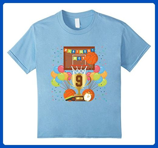 Kids 9th ninth 9 nine years happy birthday boy basketball t shirt 6 Baby Blue - Sports shirts (*Amazon Partner-Link)