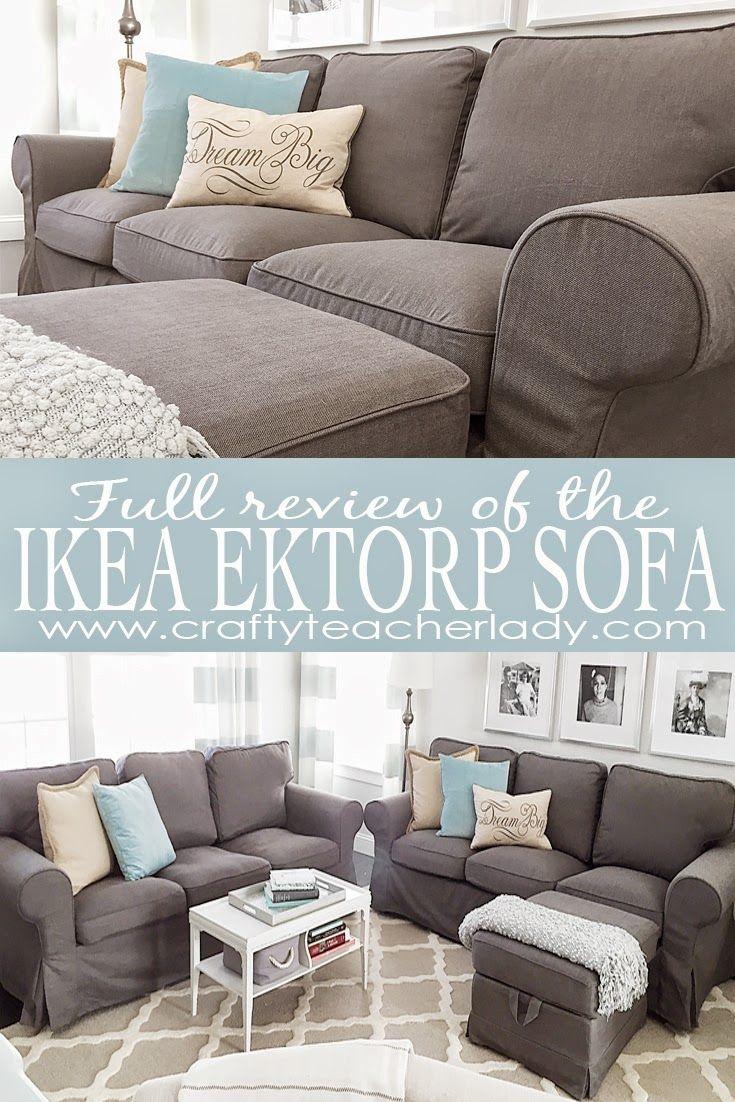 Ausführliche Beschreibung der IKEA Ektorp Sofa-Serie mit Bildern des gebrauchten Sofas neben dem brandneuen Sofa sowie Bildern des Montageprozesses. Toll gelesen!