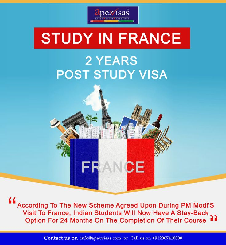 Indians can now extend stay in France for 2 years after completing studies.