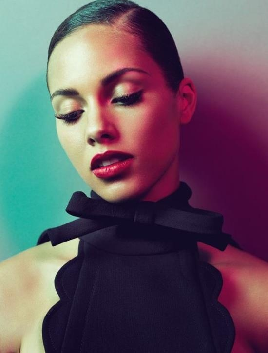 """Alicia Keys (born Alicia Cook), American singer-songwriter & actress. Her debut album, Songs in A Minor sold 12M+ copies/earned 5 Grammys, including Best New Artist and Song of the Year for """"Fallin""""; The Diary of Alicia Keys sold 8M copies/earned 4 Grammys; As I Am sold 5M copies/earned 3 Grammys; The Element of Freedom sold 4M+ copies. She also starred in Smokin' Aces & The Secret Life of Bees. She is married to producer Swizz Beats."""