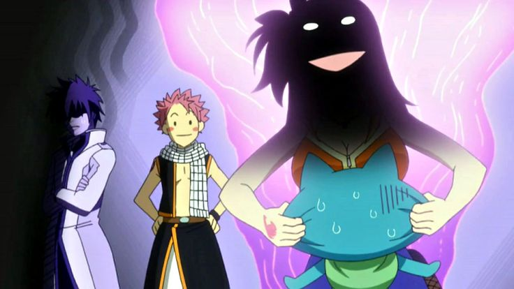 """Natsu: """"Lucy is strong.""""  Gray: """"More like scary.."""""""