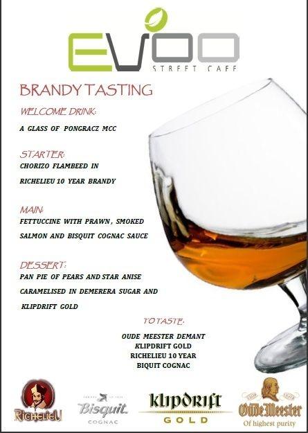 Evoo Street Cafe: Brandy Tasting