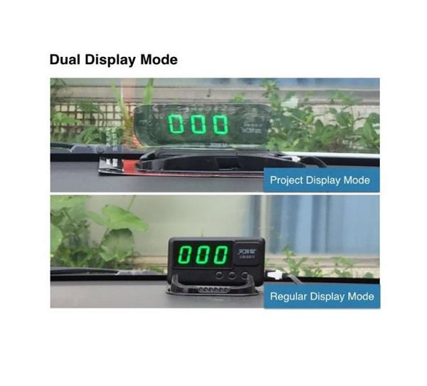Universal Car HUD Head-Up Display GPS Speedometer With Over-Speed Alarm Tired Driving Warning