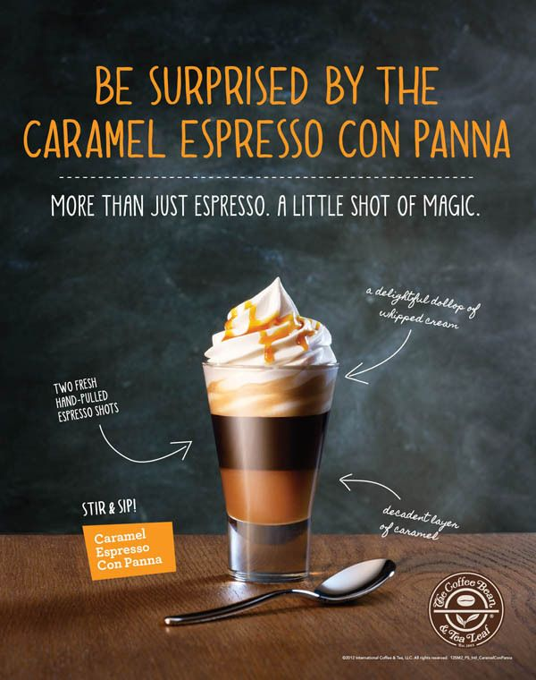 Layered Con Panna and Cappuccino Poster Series by Beth Wood, via Behance