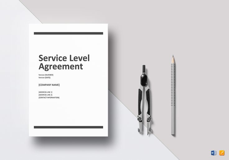 Service Level Agreement Template  $21  Formats Included : MS Word, Pages File Size : 8.27x11.69 Inchs, 8.5x11 Inchs  Pages :14 #Documents #Documentdesigns #Agreements #AgreementTemplates