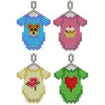 Baby Onesies Charms/Earrings - Thread A Bead