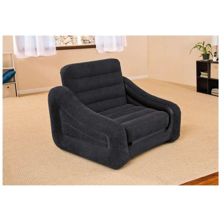 68565EP Intex Inflatable Pull-Out Chair  Twin Bed Mattress Sleeper
