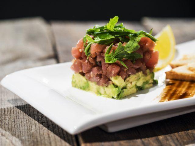 Receta De Tartar De Atún Con Aguacate Unareceta Com Tartar De Atún Comida Saludable Comida