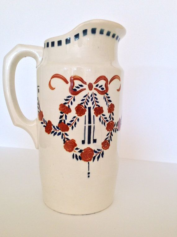 Pitcher. Ironstone jug. Antique Jug. by SouthofFranceFinds on Etsy