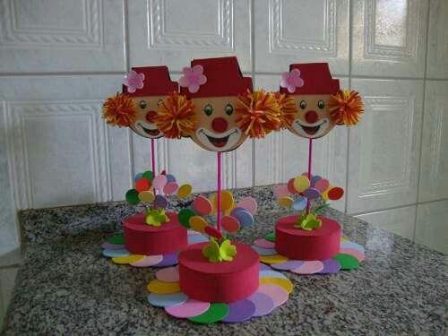 Idea de Centro de Mesa. (Para cumpleaños temático de Payasos.)