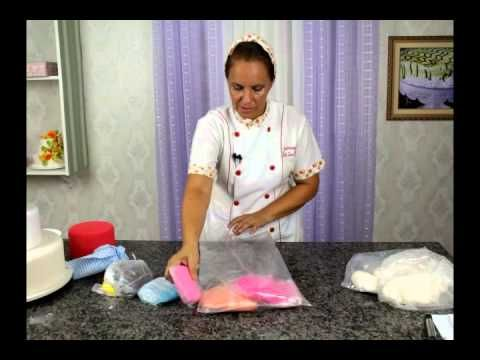 Aprenda a trabalhar com pasta Americana, massa para flores e Massa elástica. - YouTube