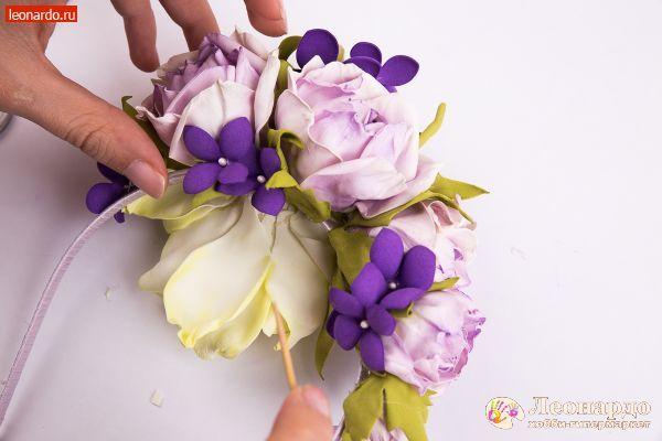 Ободок «Цветочный» - | Уроки творчества | Леонардо хобби-гипермаркет - сделай своими руками