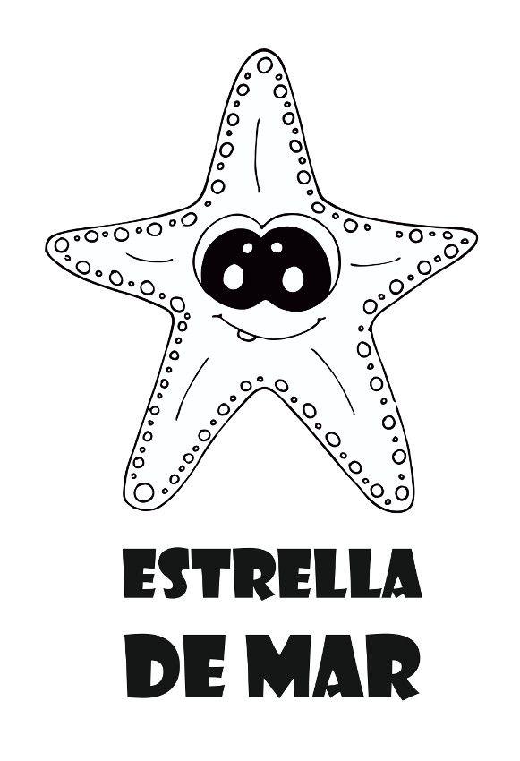 Dibujo De Animales Para Colorear Dibujo Estrella De Mar Para