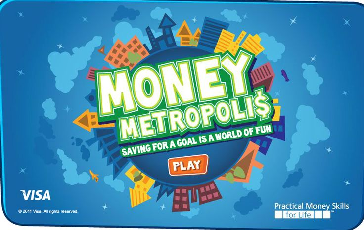 Super game to teach kids about money! They save money for a goal, get a job to make the money, and make decisions about money all along the way…so much fun and really educational!