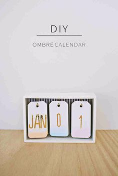 Best DIY Gifts - DIY Ombre Calendar - Cute Crafts and DIY Projects that Make Cool DYI Gift Ideas for Young and Older Girls, Teens and Teenagers - Awesome Room and Home Decor for Bedroom, Fashion, Jewelry and Hair Accessories - Cheap Craft Projects To Make For a Girl for Christmas Presents http://diyjoy.com/diy-gifts-for-girls