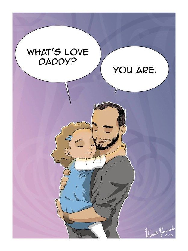 """And even if his daughter can't quite understand what all the fuss is about now, Vicente hopes she will someday. """"I would like my daughter to be able to see these drawings when she's old enough to understand what I wrote in them,"""" he said.   This Single Dad's Illustrations Of Life With His Daughter Are So Moving"""