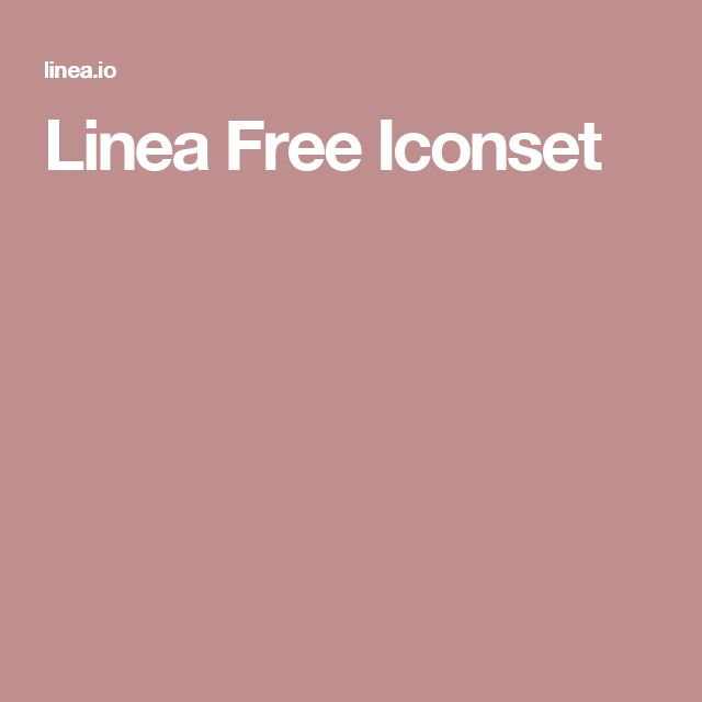 Linea Free Iconset