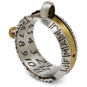 Sundial Ring - For those times you're stranded on a deserted island and need to know the exact time.
