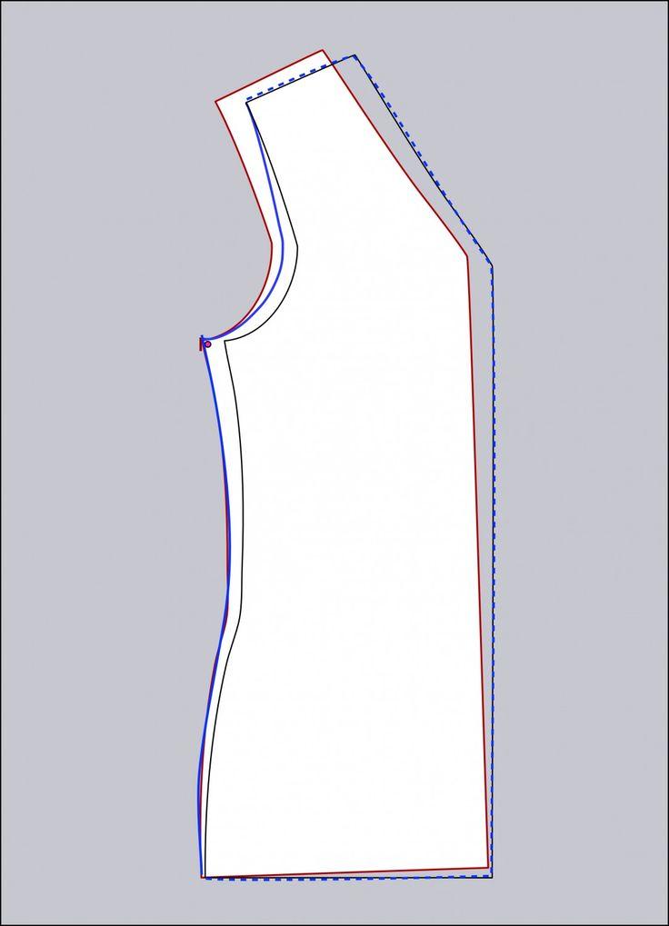 Easy Full bust adjustment at MariaDenmark.com: Slide back
