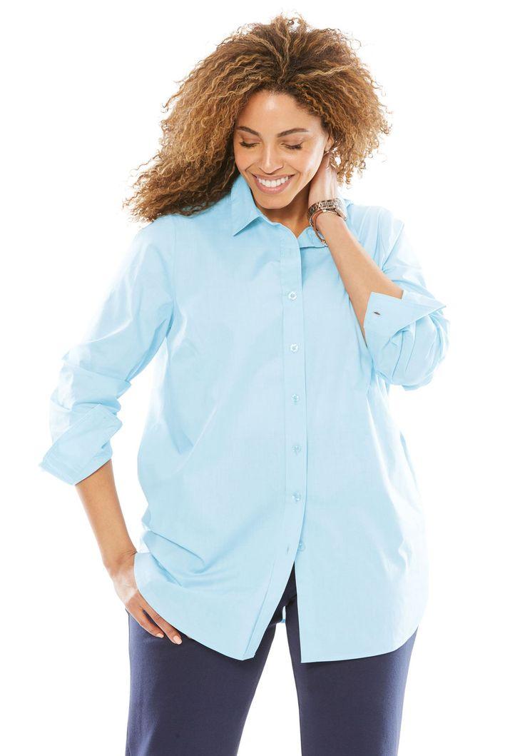Long sleeve Perfect shirt - Women's Plus Size Clothing