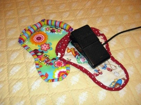 Gotta get one ... hate adjusting my pedal all the time.      anti-slip pad for machine pedal @Darlene Moore