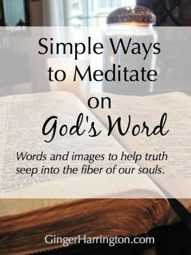 Learning to read Scripture with the heart rather than the head empowers us to receive revelation rather than simply learn information. Find simple illustrations to make sense of this thing we call meditation.