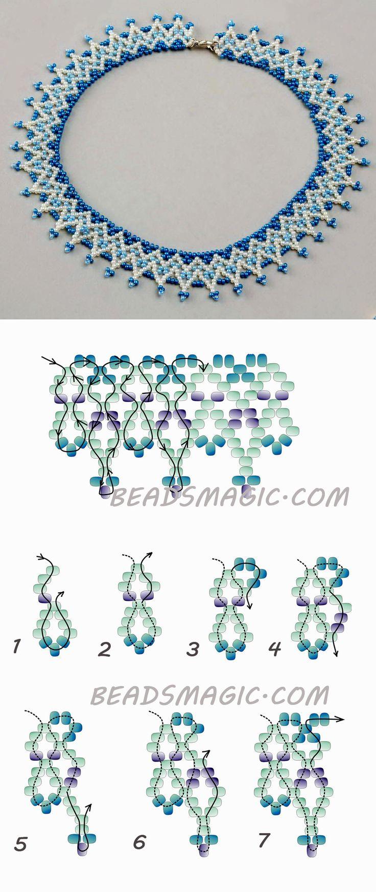 Free pattern for necklace Welkin 11/0