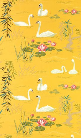 Beautiful print for my little lass' room :: Nina Campbell for Osborne and Little, Swan Lake