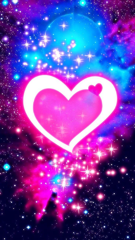 Cute galaxy heart pink Heart wallpaper, Love wallpaper