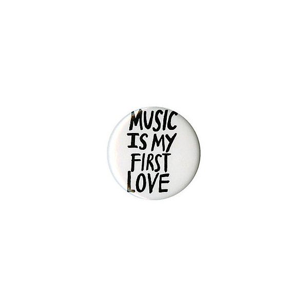 Music First Love Pin Hot Topic ($1.49) ❤ liked on Polyvore featuring jewelry, brooches, pin jewelry et pin brooch
